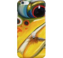 Brown Trout on Parachute Adams iPhone Case/Skin