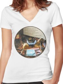 Numbers 6:24-26 The LORD bless thee, and keep thee Women's Fitted V-Neck T-Shirt