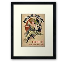 Jules Cheret - Quinquina Dubonnet Poster. Dancer painting: dance, ballet, dancing woman, ballerina, tutu, femine, women, dancer, disco, dancers, girls Framed Print