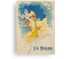 Jules Cheret - Vin Mariani Poster. Dancer painting: dance, ballet, dancing woman, ballerina, tutu, femine, women, dancer, disco, dancers, girls Canvas Print