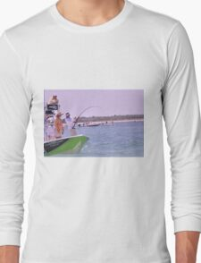 Team SignZoo Practicing for Tarpon Tournament Long Sleeve T-Shirt
