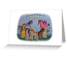 Friendship is Shiny  Greeting Card