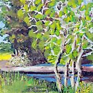 Cottonwood Tree by the Driveway Bridge by Jim Phillips