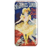 Jules Cheret - French Poster For Early Motion Picture Pantommes Lumineuses. Dancer painting: dance, ballet, dancing woman, ballerina, tutu, femine, women, dancer, disco, dancers, girls iPhone Case/Skin