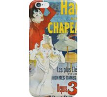 Jules Cheret - Halle Aux Chapeaux Poster. Dancer painting: dance, ballet, dancing woman, ballerina, tutu, femine, women, dancer, disco, dancers, girls iPhone Case/Skin