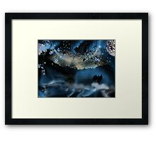 The Blue Mists Of Time Framed Print