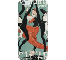 Jules Cheret - L Horloge Les Girard. Dancer painting: dance, ballet, dancing woman, ballerina, tutu, femine, women, dancer, disco, dancers, girls iPhone Case/Skin