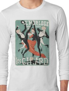 Jules Cheret - L Horloge Les Girard. Dancer painting: dance, ballet, dancing woman, ballerina, tutu, femine, women, dancer, disco, dancers, girls Long Sleeve T-Shirt