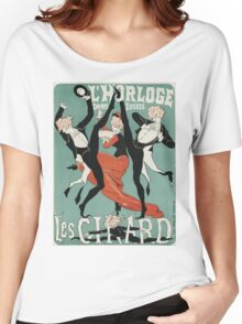Jules Cheret - L Horloge Les Girard. Dancer painting: dance, ballet, dancing woman, ballerina, tutu, femine, women, dancer, disco, dancers, girls Women's Relaxed Fit T-Shirt