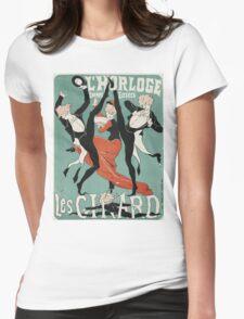 Jules Cheret - L Horloge Les Girard. Dancer painting: dance, ballet, dancing woman, ballerina, tutu, femine, women, dancer, disco, dancers, girls Womens Fitted T-Shirt