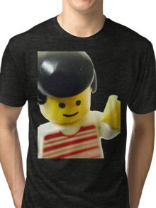 Retro Lego Minifigure Tri-blend T-Shirt