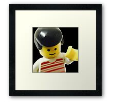 Retro Lego Minifigure Framed Print