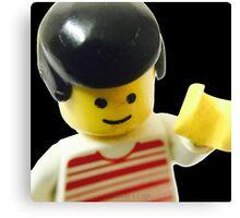Retro Lego Minifigure Canvas Print