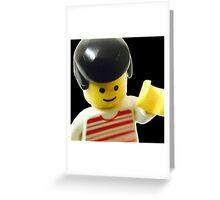 Retro Lego Minifigure Greeting Card