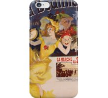 Jules Cheret - La Bodiniere Poster. Dancer painting: dance, ballet, dancing woman, ballerina, tutu, femine, women, dancer, disco, dancers, girls iPhone Case/Skin