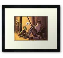 SW - story of old times Framed Print