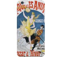 Jules Cheret - Maquettes Animees De Georges Bertrand Poster. Dancer painting: dance, ballet, dancing woman, ballerina, tutu, femine, women, dancer, disco, dancers, girls iPhone Case/Skin