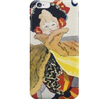 Jules Cheret - Palais De Glace Poster. Dancer painting: dance, ballet, dancing woman, ballerina, tutu, femine, women, dancer, disco, dancers, girls iPhone Case/Skin