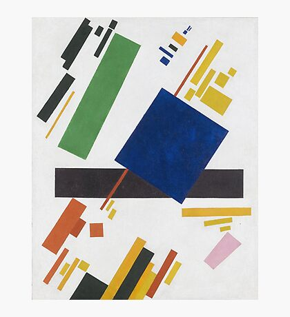 Kazimir Malevich - Suprematist Composition. Abstract painting: abstract art, geometric, expressionism, composition, lines, forms, creative fusion, spot, shape, illusion, fantasy future Photographic Print