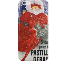 Jules Cheret - Pastilles Geraudel Poster. Dancer painting: dance, ballet, dancing woman, ballerina, tutu, femine, women, dancer, disco, dancers, girls iPhone Case/Skin