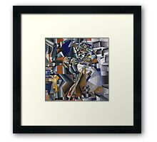 Kazimir Malevich - The Knife Grinder Or Principle Of Glittering. Abstract painting: art, geometric, expressionism, composition, lines, forms, creative fusion, spot, shape, illusion, fantasy future Framed Print