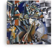 Kazimir Malevich - The Knife Grinder Or Principle Of Glittering. Abstract painting: art, geometric, expressionism, composition, lines, forms, creative fusion, spot, shape, illusion, fantasy future Canvas Print