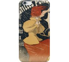Jules Cheret - Pastilles Poncelet Poster. Dancer painting: dance, ballet, dancing woman, ballerina, tutu, femine, women, dancer, disco, dancers, girls iPhone Case/Skin