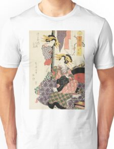 Kikugawa Eizan - Tiger Hour. Woman portrait: sensual woman, geisha, female style, traditional dress, femine, beautiful dress, headdress,  hairstyle, courtesans, sexy lady, erotic pose Unisex T-Shirt