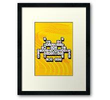 Mahjong Invader Framed Print