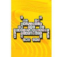 Mahjong Invader Photographic Print