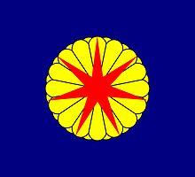Flag of Republic of Ezo, 1869 by abbeyz71