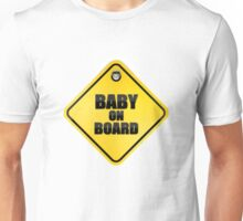baby on board car windsheild sticky sign Unisex T-Shirt