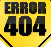 Error 404 yellow sticky sign Sticker