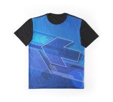blue dynamic arrows illustration original design Graphic T-Shirt