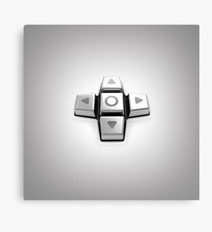 gaming console controller or joystick controller buttons Canvas Print