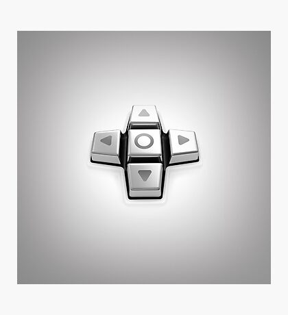 gaming console controller or joystick controller buttons Photographic Print