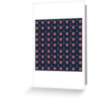 Wheels & Anchors Blue Print Greeting Card