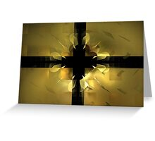 Gold Box Clover Greeting Card