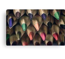 Colored Pencil Tips Canvas Print