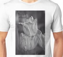 Tulips, Black and White Unisex T-Shirt