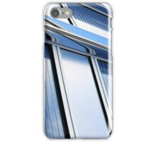 modern contemporary tower detail closup of facade glass pannels iPhone Case/Skin