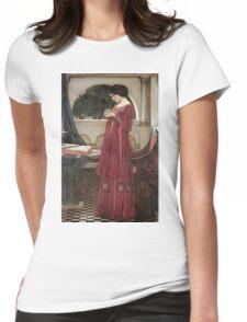 John William Waterhouse - The Crystal Ball . Woman portrait: sensual woman, girly art, female style, pretty women, femine, beautiful dress, cute, creativity, love, sexy lady Womens Fitted T-Shirt