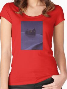 Snowy Barn Women's Fitted Scoop T-Shirt