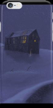 Snowy Barn by TLCampbell