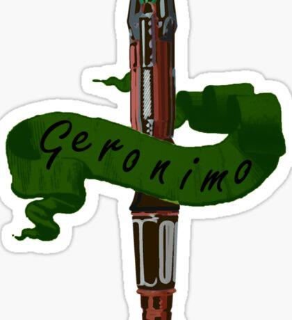 Geronimo Sonic Screwdriver Sticker