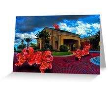 Hibiscus Invaders Greeting Card