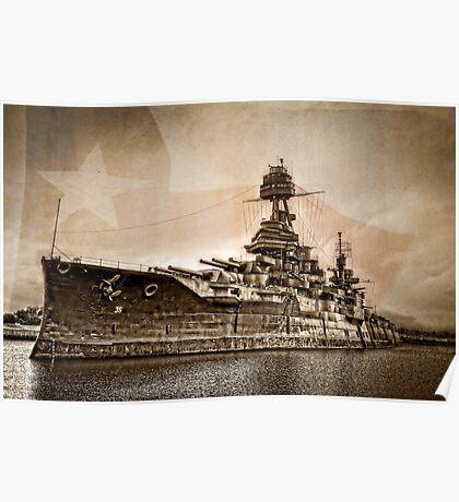 USS Texas Poster
