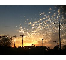 Rippled Clouds in the Sunset Photographic Print