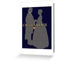 Outlander Wedding Silhouette with books list Greeting Card