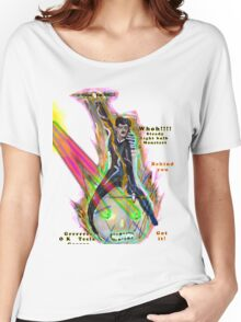 Tesla riding steed light bulb triumphantly into battle as it fires laser beams  Women's Relaxed Fit T-Shirt